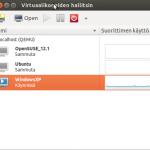 Virt-Manager main screen