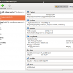VirtualBox main screen